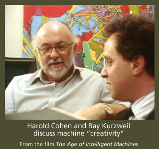 Ray Kurzweil converses with Harld Cohen, creator of AARON